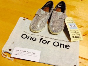 Toms shoes and bag